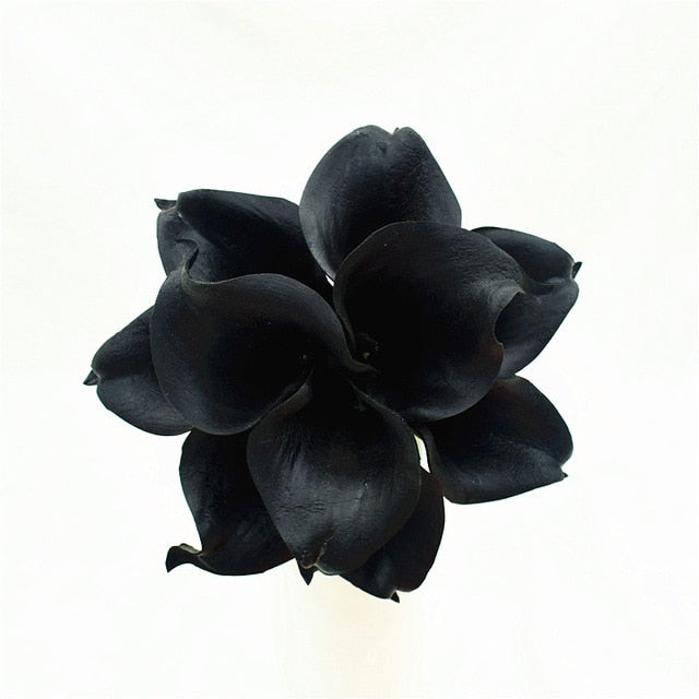 Artificial Calla Lily BouquetBlackFlorals For Less cheap artificial fake flowers online
