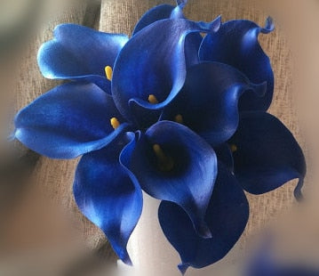 Artificial Calla Lily Bouquetroyal blue 1Florals For Less cheap artificial fake flowers online