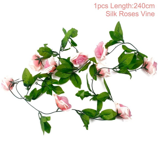 Artificial Rose GarlandLight Pink 240cmFlorals For Less cheap artificial fake flowers online