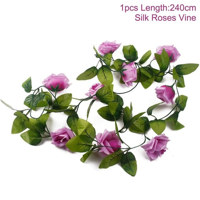 Artificial Rose GarlandPurple 240cmFlorals For Less cheap artificial fake flowers online