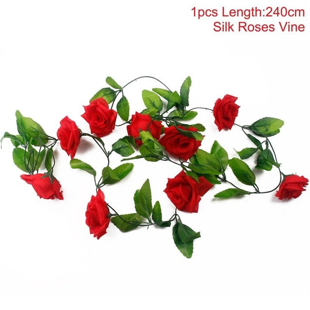 Artificial Rose GarlandRed 240cmFlorals For Less cheap artificial fake flowers online
