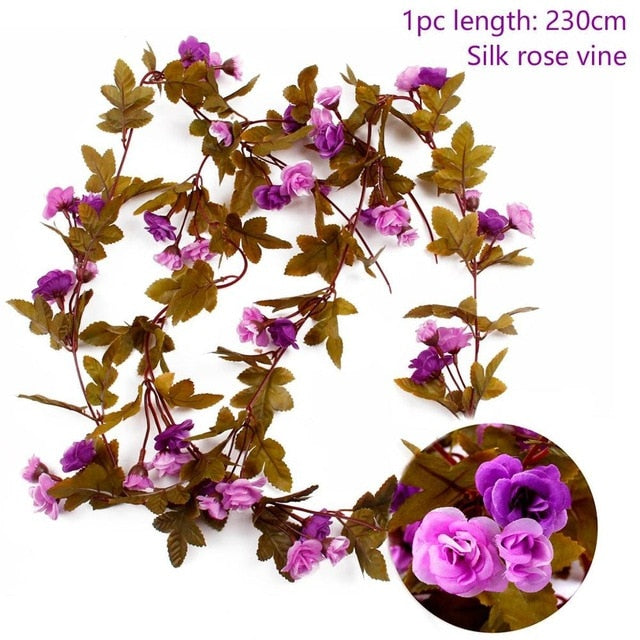 Artificial Rose GarlandLight Purple 230cmFlorals For Less cheap artificial fake flowers online