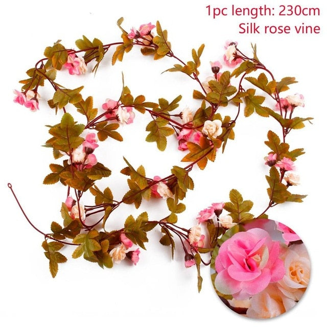 Artificial Rose GarlandChampagne 230cmFlorals For Less cheap artificial fake flowers online