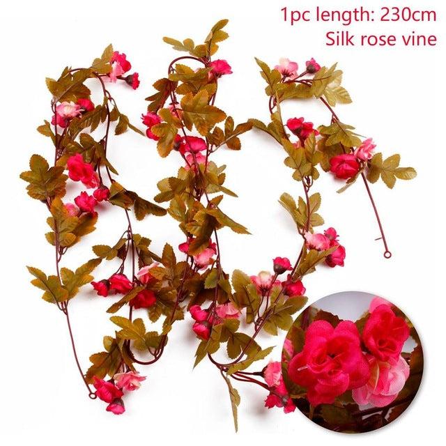Artificial Rose GarlandRose Pink 230cmFlorals For Less cheap artificial fake flowers online