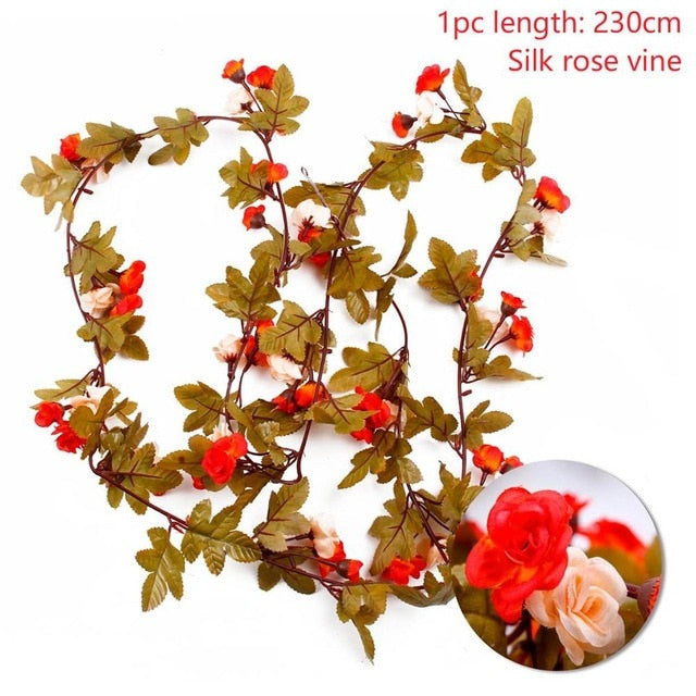 Artificial Rose GarlandOrange 230cmFlorals For Less cheap artificial fake flowers online