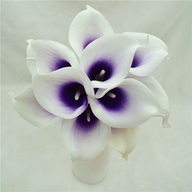 Artificial Calla Lily BouquetViolet CenterFlorals For Less cheap artificial fake flowers online