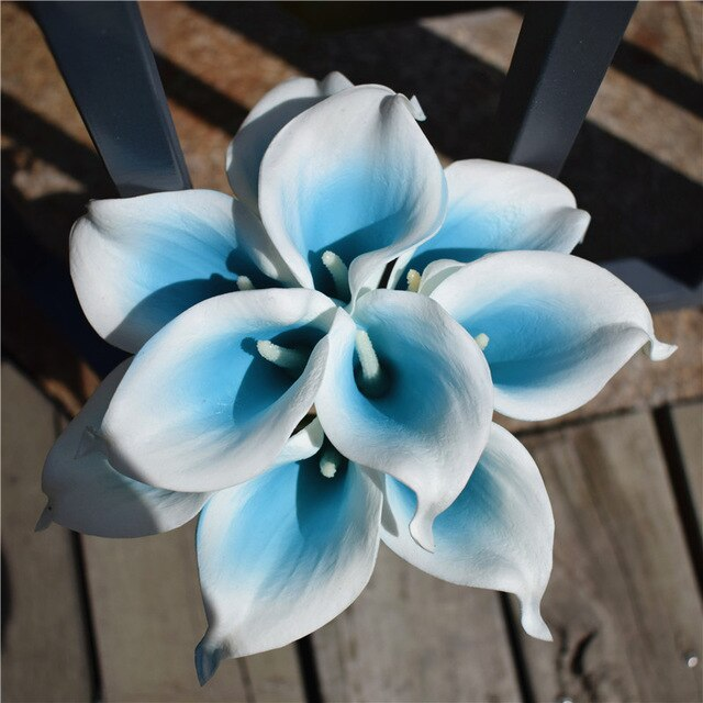 Artificial Calla Lily BouquetTiffany BlueFlorals For Less cheap artificial fake flowers online
