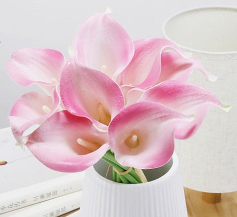 Artificial Calla Lily BouquetPink and WhiteFlorals For Less cheap artificial fake flowers online