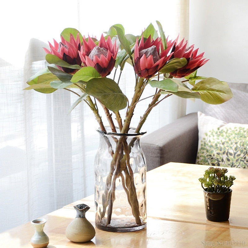 Large Artificial Protea CynaroidesFlorals For Less cheap artificial fake flowers online