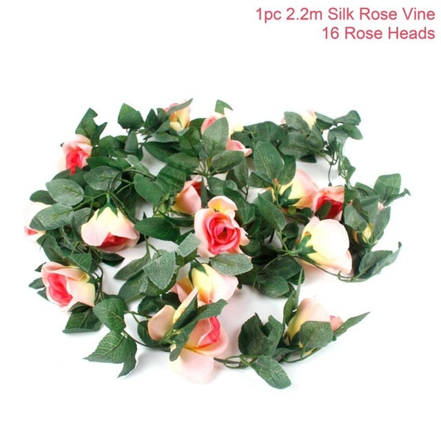 Artificial Rose GarlandPeach Rosevine 220cmFlorals For Less cheap artificial fake flowers online