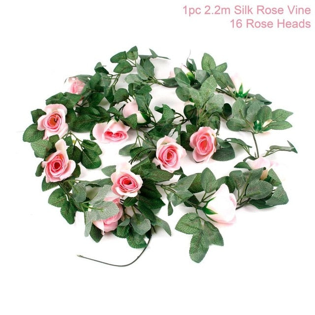 Artificial Rose GarlandPink Rosevine 220cmFlorals For Less cheap artificial fake flowers online