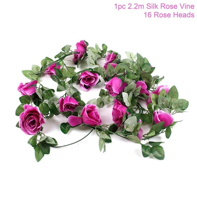 Artificial Rose GarlandPurple Rosvine 220cmFlorals For Less cheap artificial fake flowers online