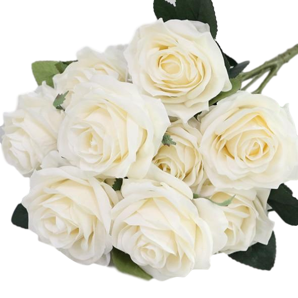 Artificial French RosesBeigeFlorals For Less cheap artificial fake flowers online