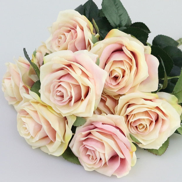 Artificial French RosesPinkFlorals For Less cheap artificial fake flowers online