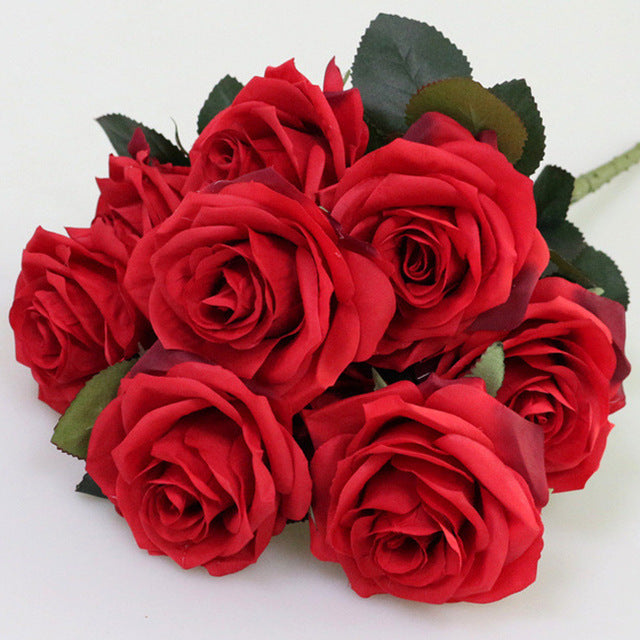 Artificial French RosesRedFlorals For Less cheap artificial fake flowers online