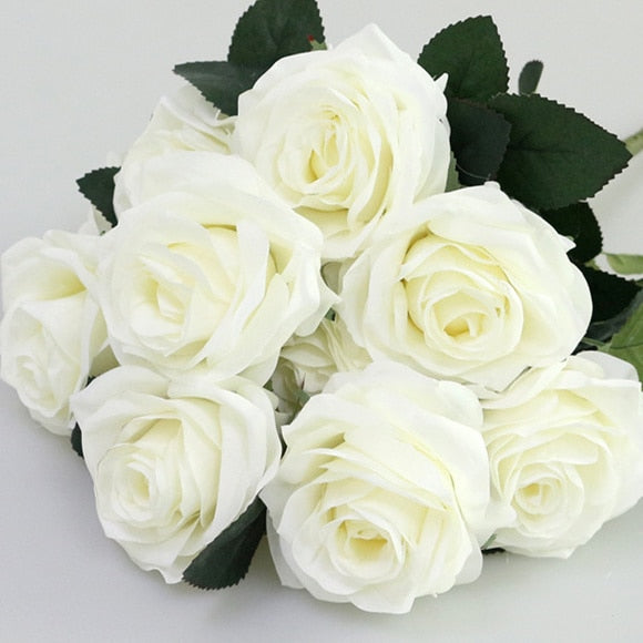 Artificial French RosesWhiteFlorals For Less cheap artificial fake flowers online