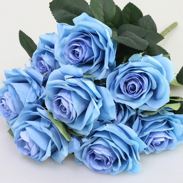 Artificial French RosesDark BlueFlorals For Less cheap artificial fake flowers online