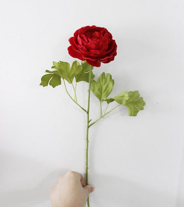 Artificial Cabbage Rose SprayRedFlorals For Less cheap artificial fake flowers online