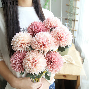 Artificial Dahlia SprayFlorals For Less cheap artificial fake flowers online