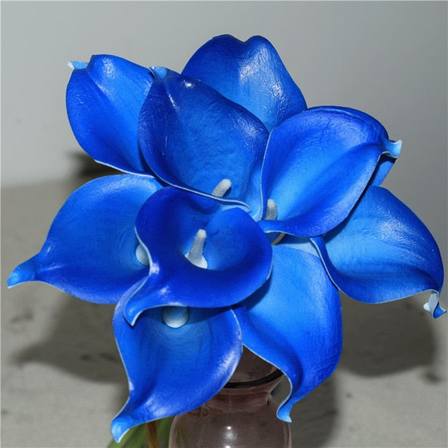 Artificial Calla Lily BouquetBright BlueFlorals For Less cheap artificial fake flowers online