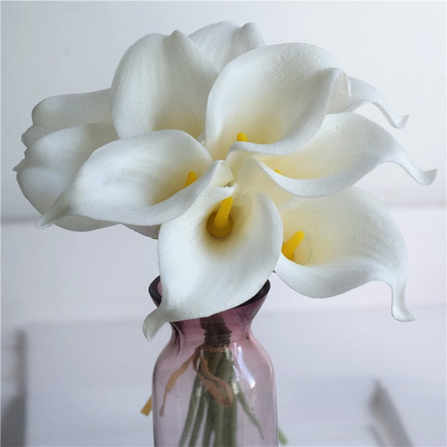 Artificial Calla Lily BouquetWhite and YellowFlorals For Less cheap artificial fake flowers online
