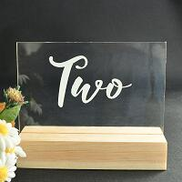 Acrylic Clear Table Numbers with Wooden Base1-15Florals For Less cheap artificial fake flowers online