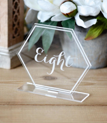 Acrylic Hexagon or Round Free Standing Table NumbersFlorals For Less cheap artificial fake flowers online