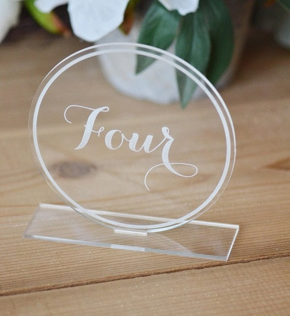 Acrylic Hexagon or Round Free Standing Table NumbersRound / 1-40Florals For Less cheap artificial fake flowers online