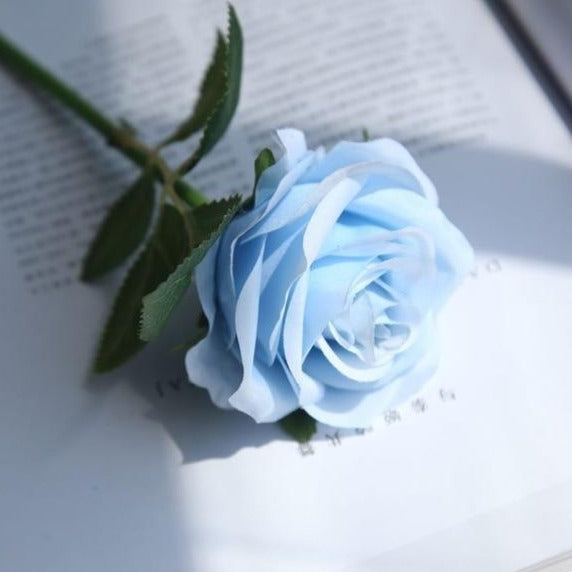 Artificial Silk Rose SprayBlueFlorals For Less cheap artificial fake flowers online
