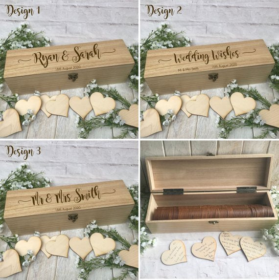 Personalized Heart Box Wedding Guestbook AlternativeFlorals For Less cheap artificial fake flowers online
