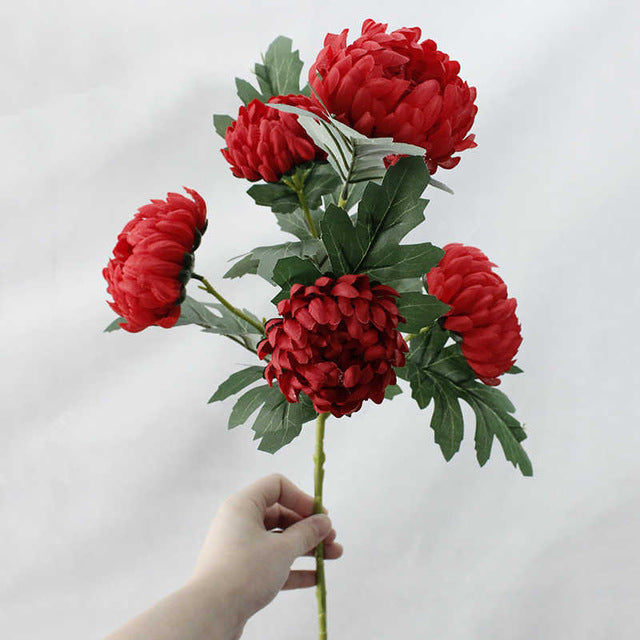 Artificial MarigoldsRedFlorals For Less cheap artificial fake flowers online
