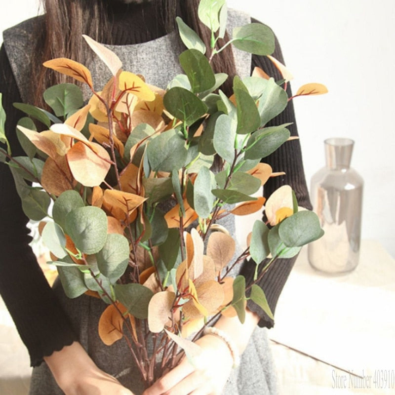 Light Green Artificial Eucalyptus BranchFlorals For Less cheap artificial fake flowers online