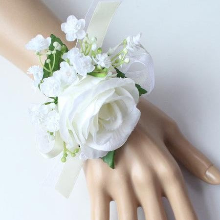 Hand Made Boutonnieres - White and GreensCorsage BFlorals For Less cheap artificial fake flowers online