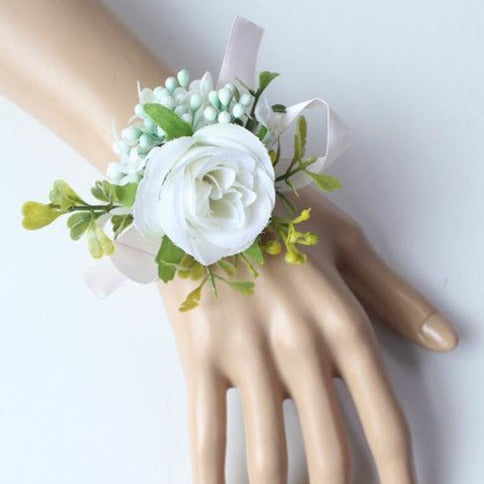Hand Made Boutonnieres - White and GreensCorsage CFlorals For Less cheap artificial fake flowers online