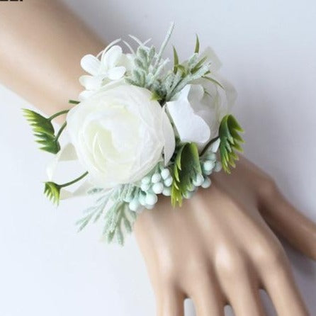Hand Made Boutonnieres - White and GreensCorsage EFlorals For Less cheap artificial fake flowers online