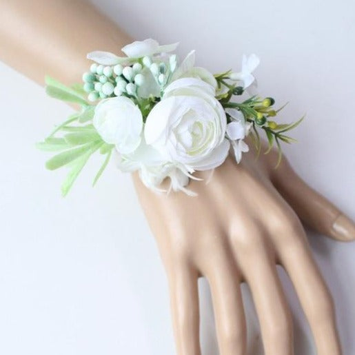 Hand Made Boutonnieres - White and GreensCorsage FFlorals For Less cheap artificial fake flowers online
