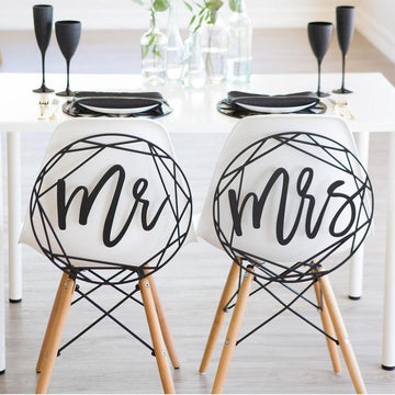 Modern Mr and Mrs Chair SignsFlorals For Less cheap artificial fake flowers online