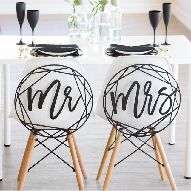 Modern Mr and Mrs Chair SignsDefault TitleFlorals For Less cheap artificial fake flowers online