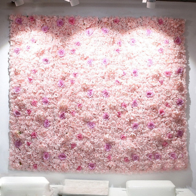 Flower Wall (7.5 ft)PinkFlorals For Less cheap artificial fake flowers online