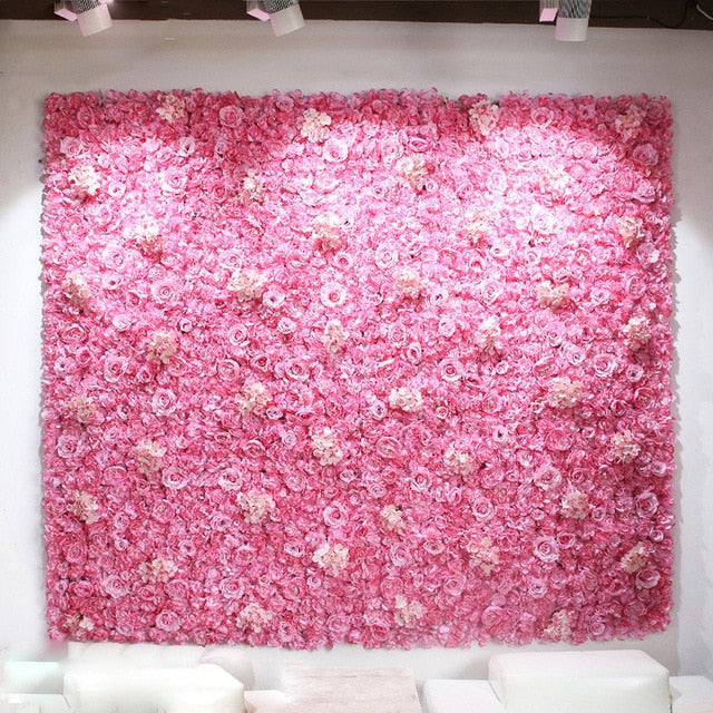 Flower Wall (7.5 ft)Bright PinkFlorals For Less cheap artificial fake flowers online