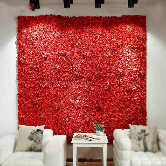 Flower Wall (7.5 ft)RedFlorals For Less cheap artificial fake flowers online
