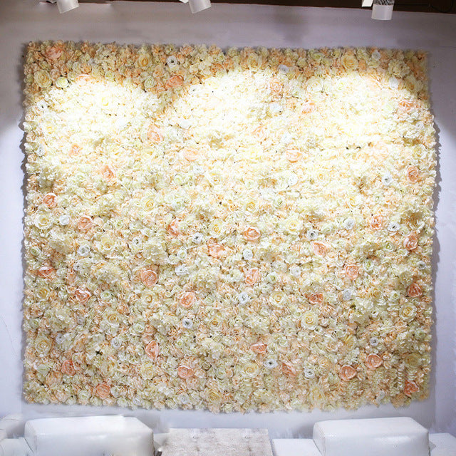 Flower Wall (7.5 ft)Off WhiteFlorals For Less cheap artificial fake flowers online