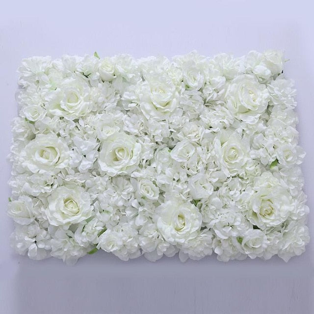 Flower Wall (7.5 ft)WhiteFlorals For Less cheap artificial fake flowers online