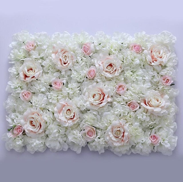 Flower Wall (7.5 ft)White and PinkFlorals For Less cheap artificial fake flowers online