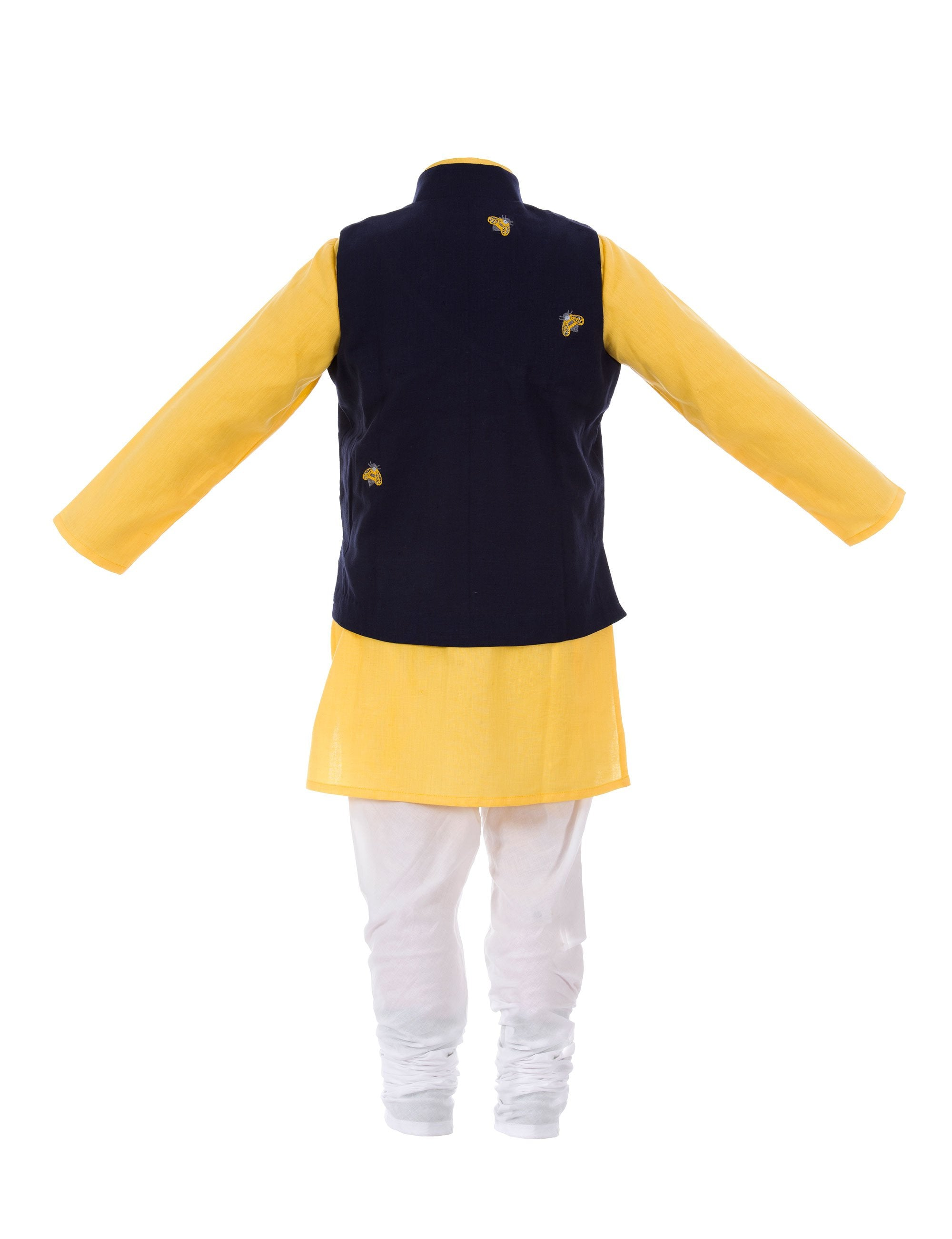 Kurta/Bug Jacket N Yellow and Blue Colour for Boys