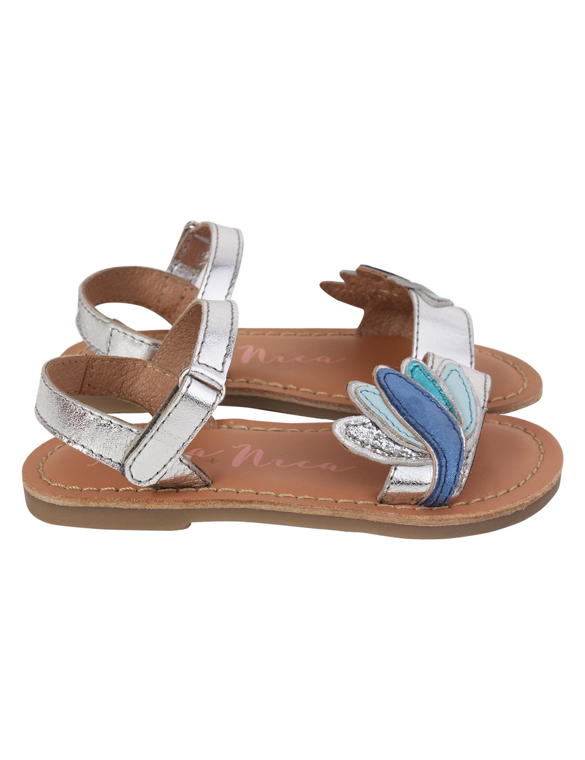 Lotus Flats for Girls in Blue and White Colour