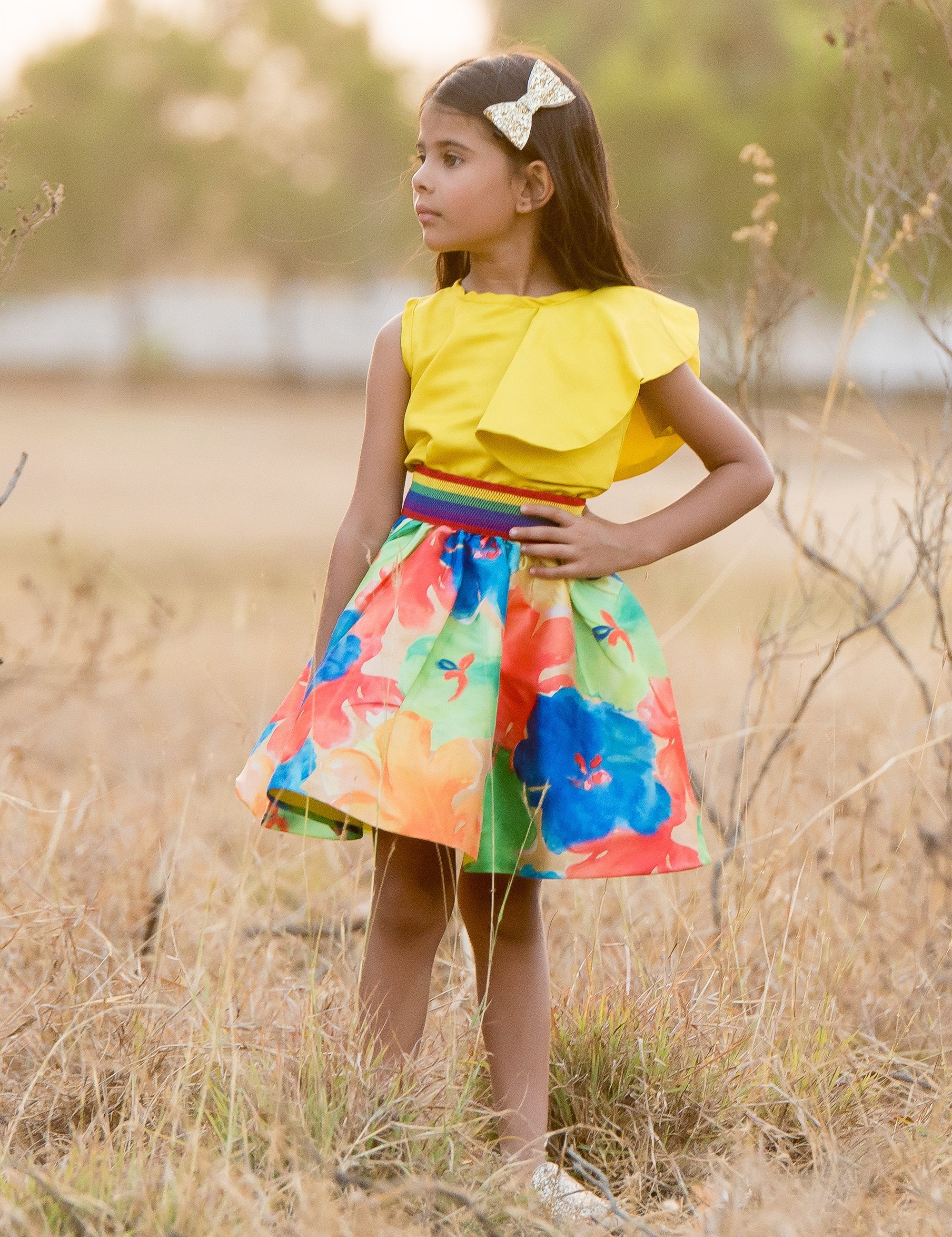 Colour Blast Skirt and Top Set