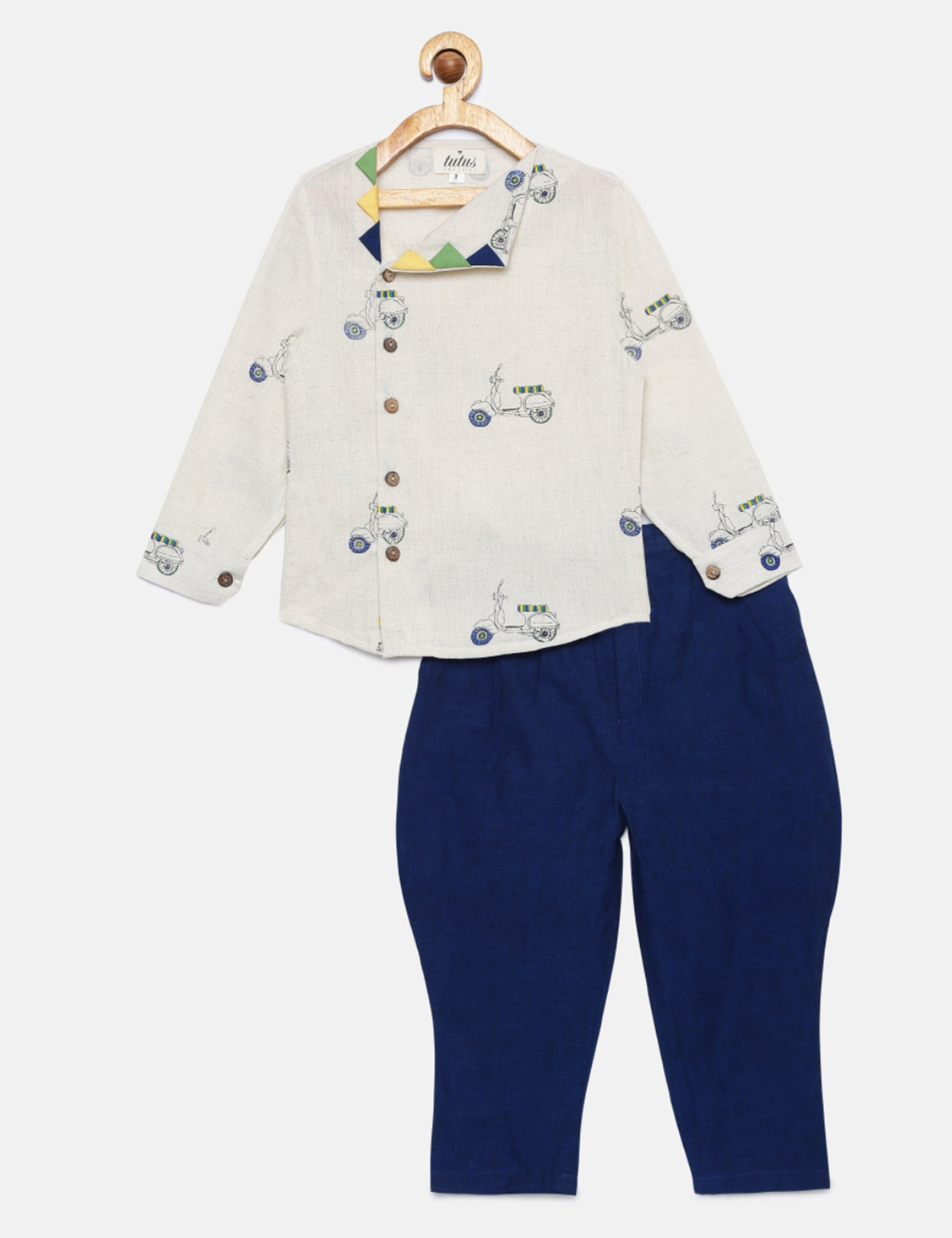 Scooter Print Shirt and Baloon Pants