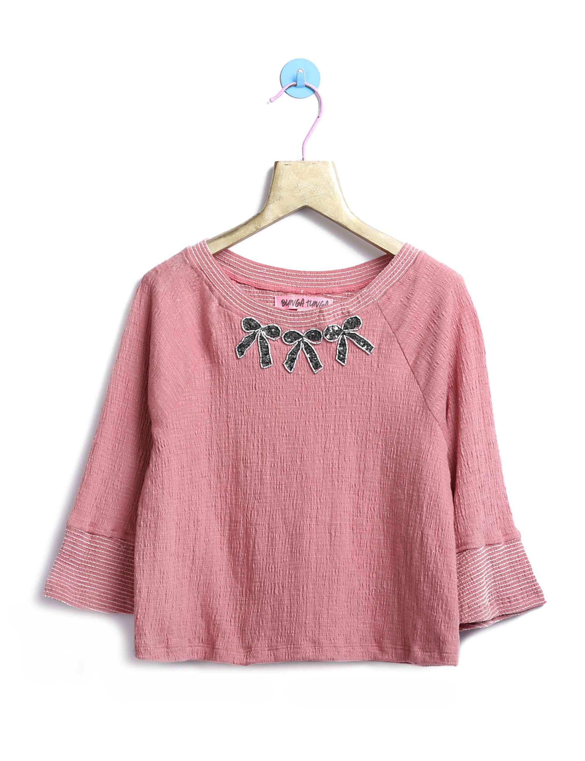 Pink Bow T-Shirt for Girls