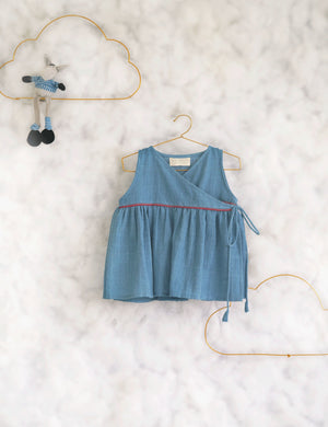 Blue All Around Flare Top for Girls